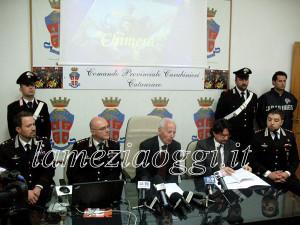 Conferenza stampa operazione Chimera