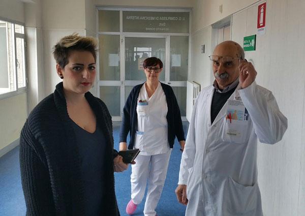 Nesci in visita all'ospedale di Tropea