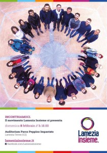 Una delle immaggini a sostegno di Piccioni, tra di loro collaboratori della Fondazione Calabresi nel Mondo