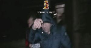 Pasqualino Torcasio al momento dell'arresto