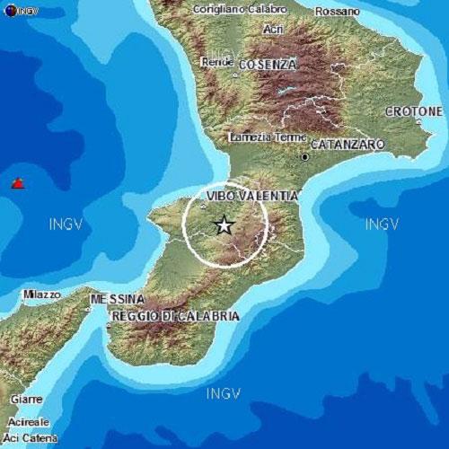 Lamezia oggi terremoto nuova scossa nel vibonese for Il vibonese cronaca di oggi