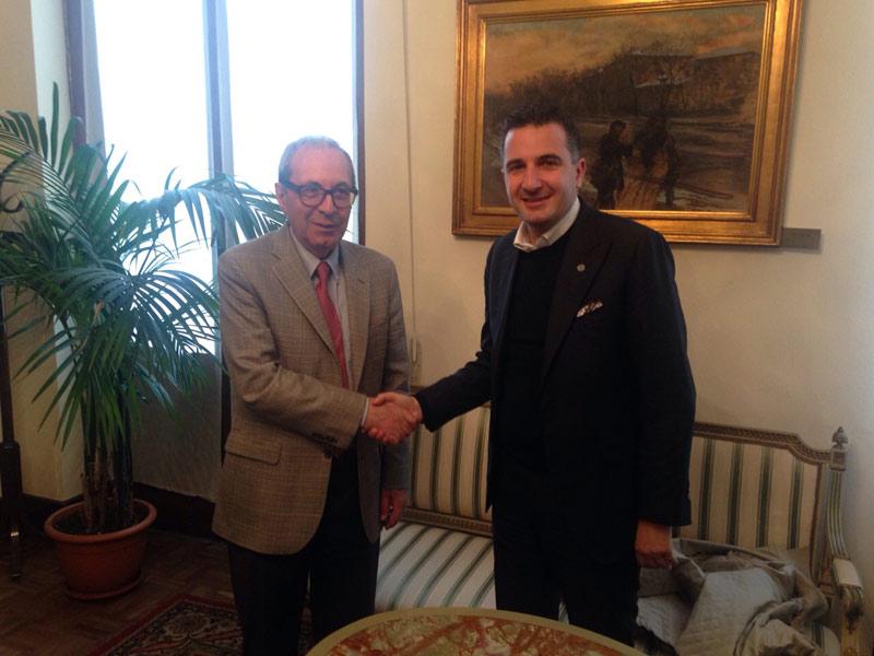 Basili Rizzo, presidente consiglio comunale Milano con Orladino Greco