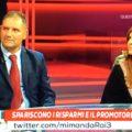 """I coniugi Antonio Villella e Giovanna Vecchi presenti in studio durante la trasmissione tv """"Mi Manda Raitre"""""""