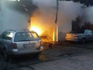 Distrutta da incendio autocarrozzeria a Cosenza