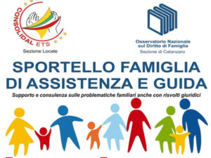 Catanzaro: aperto ogni mercoledì Sportello Famiglia Consolidal