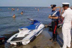 Sicurezza: controlli ad acquascooter, sanzioni nel Crotonese