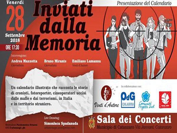 Calendario Concerti Calabria.Lamezia Oggi Giornalisti Vittime Mafia E Terrorismo