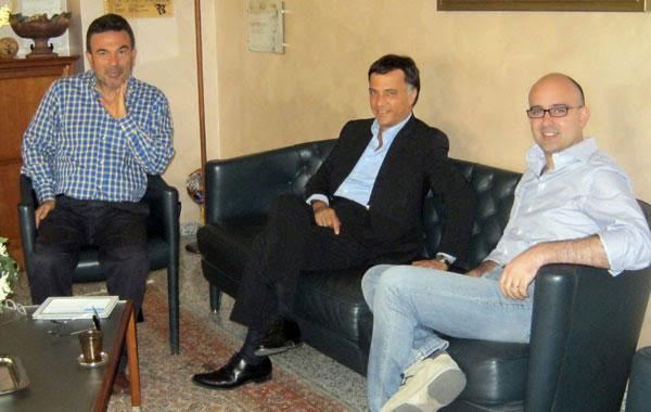 Nella foto Gianni Speranza, Pino Galati e Francesco Cicione