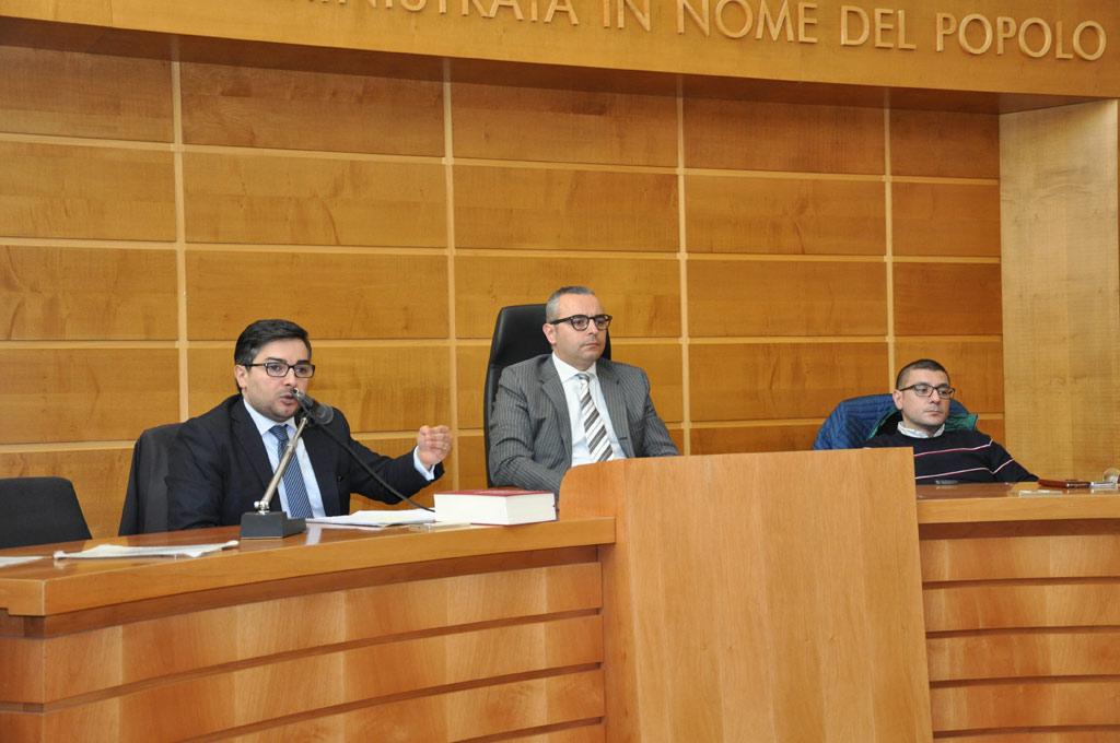 L'avvocato Aldo Ferraro, il Tenente Colonnello Gianluca Fearraro e l'avvocato Francesco Pagliuso