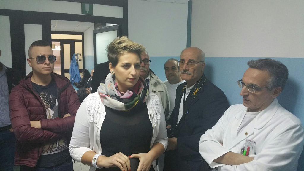 Dalila Nesci all'ospedale di Cariati