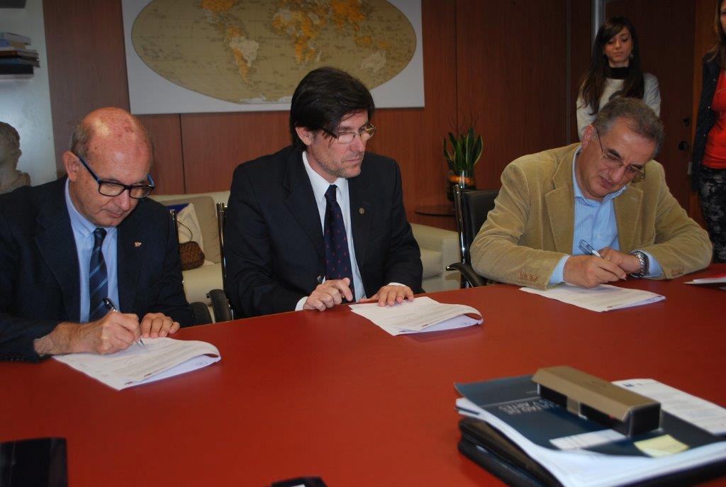 Da sinistra D'Ignazio, Goity e Altimari