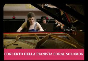Concerti: la pianista Coral Solomon al Polo culturale Santa Chiara