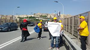 """Catanzaro: protesta di cittadini sul """"Viadotto Bisantis"""""""
