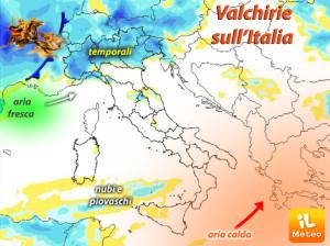 """Il tempo: ciclone """"Valchirie"""" minaccia il ponte del 2 giugno"""