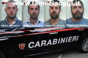 Droga: quattro persone arrestate a Palmi dai Carabinieri