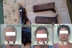 Lamezia: armi e ricettazione, tre donne arrestate dai Carabinieri