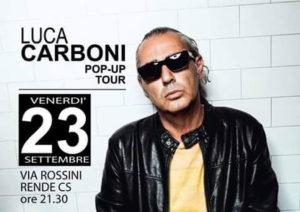 Rende: Settembre Rendese, arriva in città Luca Carboni