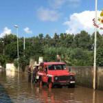 Maltempo: oltre 100 vigili del fuoco al lavoro nel Catanzarese