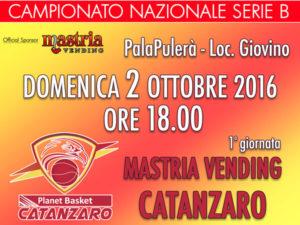 Catanzaro: domani al via campionato Mastria Vending