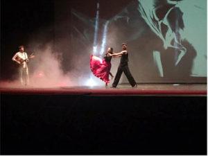 Ricerca: Giusy Versace e Raimondo Todaro sul palco per l'Airc