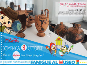 Musei: Il MArRC celebra la Giornata delle Famiglie 2016