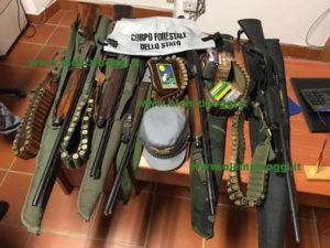 Caccia: armi nel parco della Sila, cinque persone denunciate