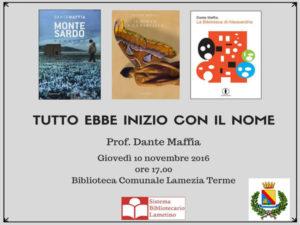 Lamezia: Sistema bibliotecario ospita Dante Maffia