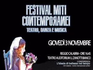 Reggio: torna con la V edizione il Festival Miti