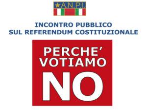 Crotone: No al referendum incontro Anpi con De Fiores