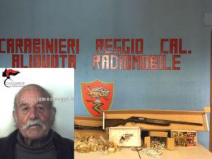 Armi: nascondeva fucili, pistola e munizioni; un arresto a Reggio