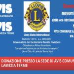 Protocollo Lions Club Lamezia Host e l'Avis Provinciale Catanzaro
