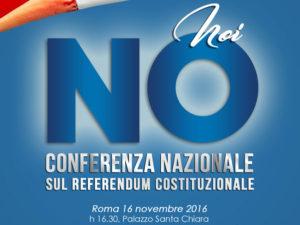 """Referendum: Conferenza Nazionale Nuovo Cdu """"Noi No"""""""