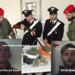 Due arresti dei Carabinieri a Polistena, sequestro droga e fucile
