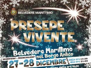 Belvedere Marittimo: il Presepe Vivente, nei giorni 27 e 28