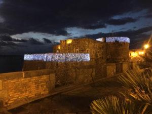 Pizzo: Castello Murat addobbato a festa per il Natale