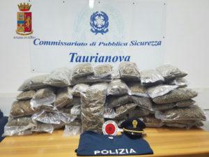 Droga: fermato con 50 chili di marijuana ed arrestato a Melicucco