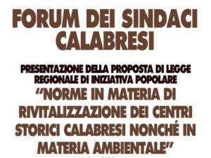 Proposta di legge sui centri storici, forum dei sindaci calabresi