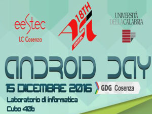 Formazione : Android Day 2016 all' Unical