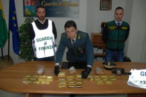Fisco: Gdf Arezzo e Guardia Civil sequestrano 27 kg di oro puro