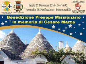 A Mesoraca il presepe in memoria di Cesare Mazza