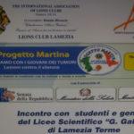 """Lamezia: Lions Club presenta il Service """"progetto Martina"""""""