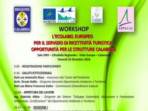 Turismo: workshop Ecolabel europeo per il servizio di ricettività
