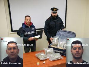 Droga: padre e figlio arrestati con 3 chili di marijuana a Bovalino