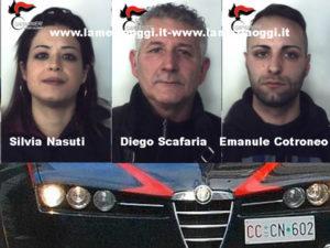 Droga: blitz Carabinieri in una casa a Reggio, tre arresti