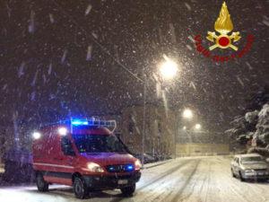 Catanzaro: interventi dei Vigili del Fuoco per neve