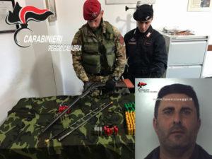 Armi: nascondeva fucile e munizioni, un arresto nel Reggino