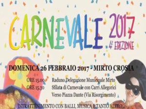 Crosia: Carnevale, ritorna la sfilata dei carri