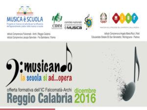 Reggio: laboratorio formazione musica all'ic Falcomatà Archi