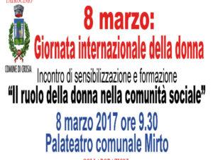 Crosia 8 marzo incontro di sensibilizzazione e formazione