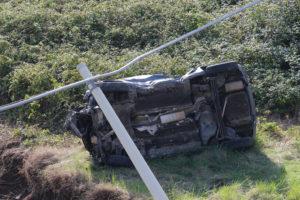 Incidenti stradali: auto in un fiume a Maida, muore donna
